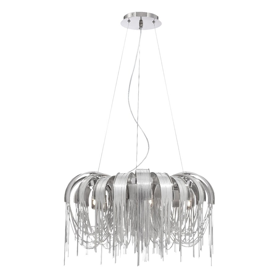 Eurofase Avenue 25-in 5-Light Nickel Draped Chandelier
