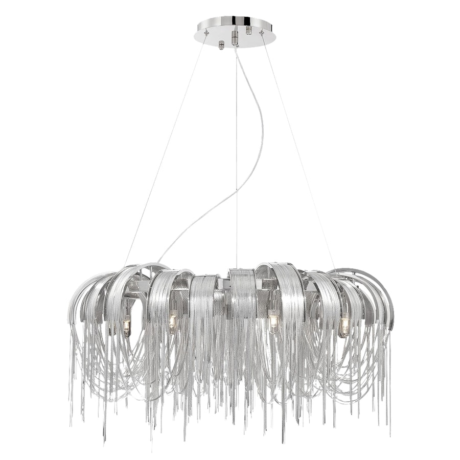 Eurofase Avenue 31-in 8-Light Nickel Draped Chandelier