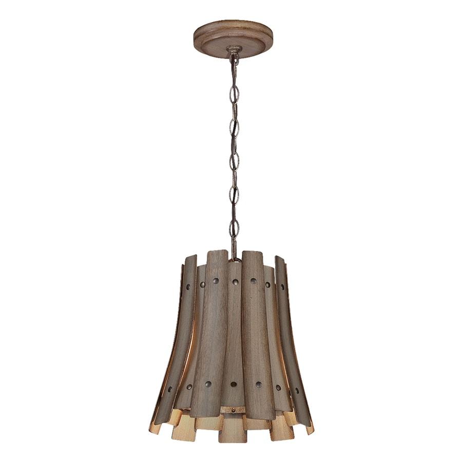 Eurofase Panello 11.5-in Bronze Rustic Bell Pendant