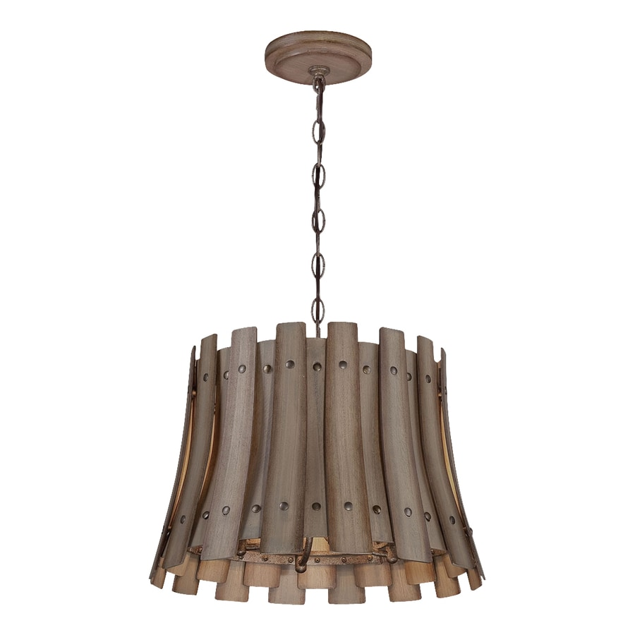 Eurofase Panello 17.5-in Bronze Rustic Drum Pendant