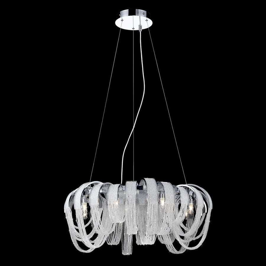 Eurofase Sage 31-in 8-Light Chrome Crystal Draped Chandelier