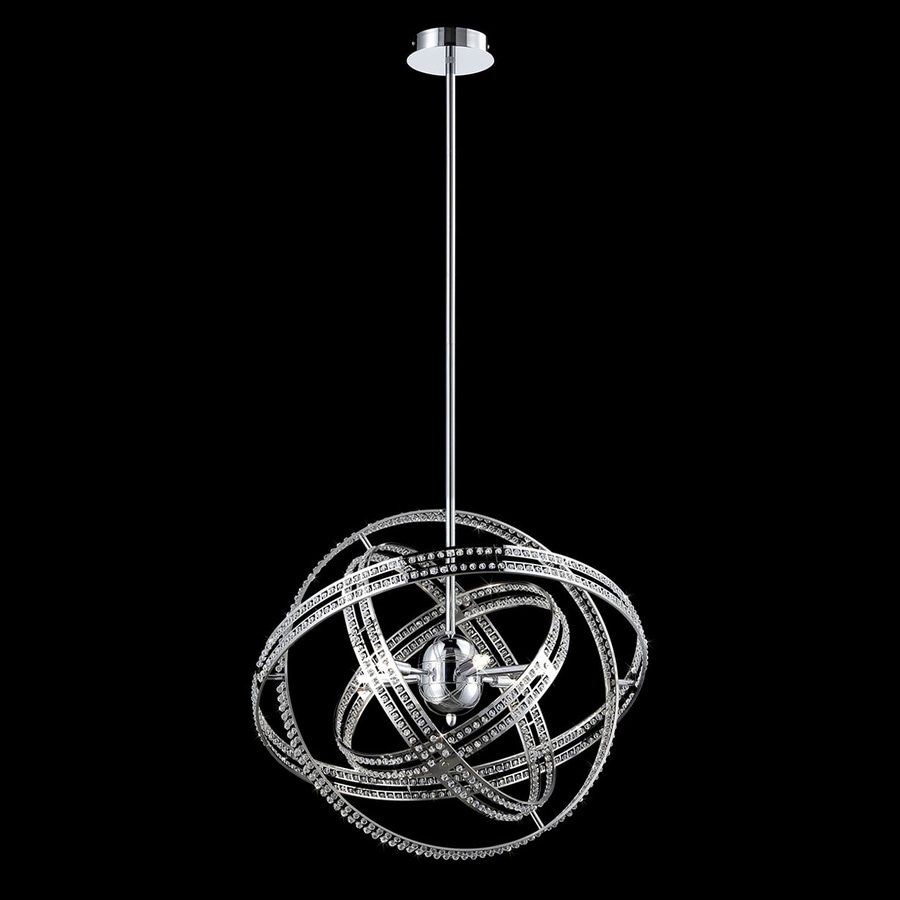 Eurofase Ace 23.5-in Chrome Crystal Cage Pendant