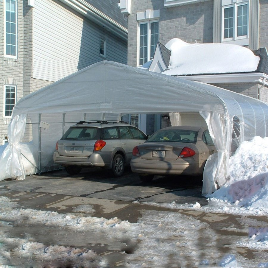 Gazebo Penguin 18-ft x 20-ft x 9.92-ft Clear Metal 2-Car Carport