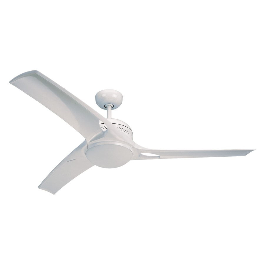 Monte Carlo Fan Company Mach One 52-in White Downrod Mount Indoor Ceiling Fan Included Remote Control Included (3-Blade)