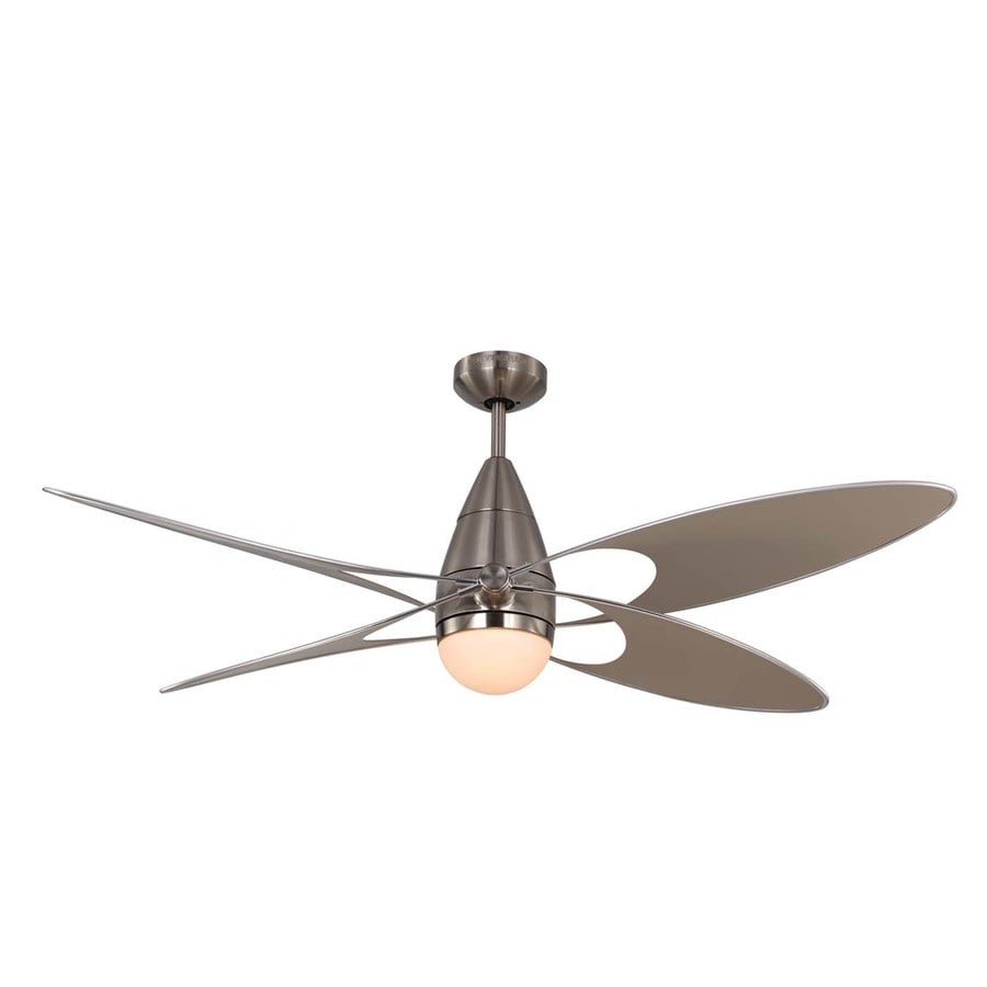 Monte Carlo Fan Company Erfly 54 In Brushed Steel Indoor Outdoor Downrod Mount Ceiling