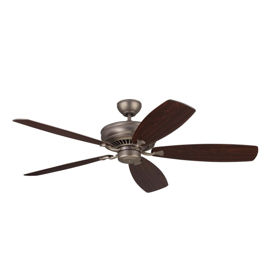 Monte Carlo Fan Company Bonneville Max 60-in Brushed Pewter Downrod Mount Indoor Ceiling Fan (5-Blade) ENERGY STAR