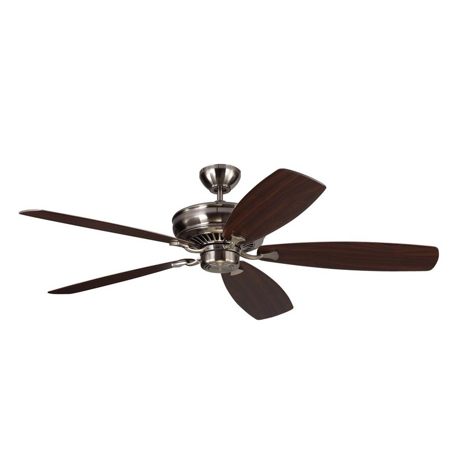 Monte Carlo Fan Company Bonneville Max 60-in Brushed Steel Downrod Mount Indoor Ceiling Fan (5-Blade) ENERGY STAR