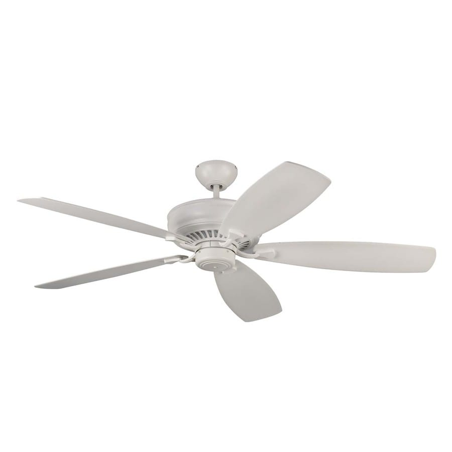 Monte Carlo Fan Company Bonneville Max 60-in Rubberized White Downrod Mount Indoor Ceiling Fan (5-Blade) ENERGY STAR