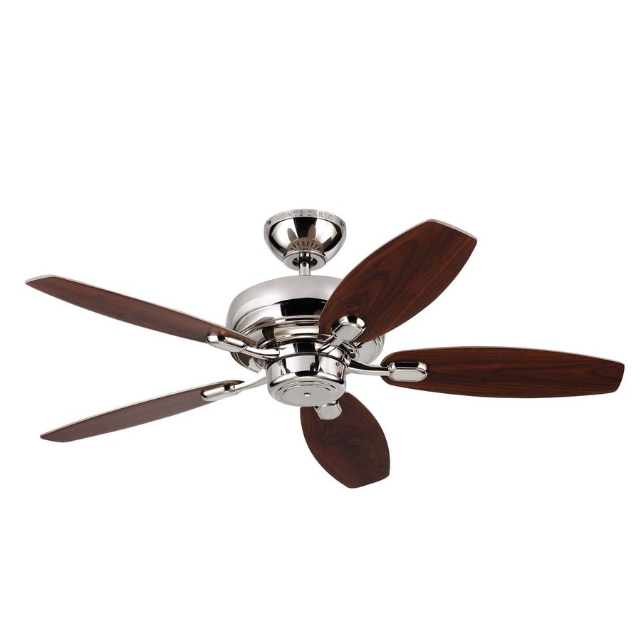 Monte Carlo Fan Company Centro Max Ii 44-in Polished Nickel Downrod or Close Mount Indoor Ceiling Fan (5-Blade)