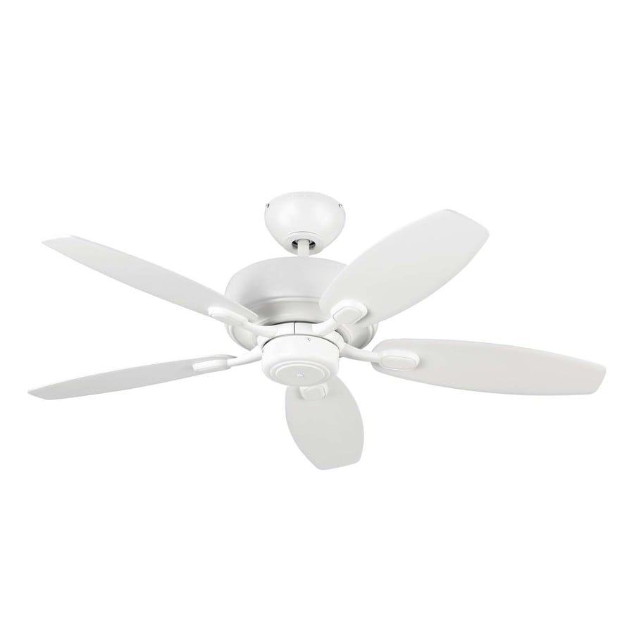 Monte Carlo Fan Company Centro Max Ii 44-in Rubberized White Downrod or Close Mount Indoor Ceiling Fan (5-Blade)