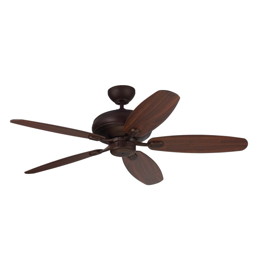 Monte Carlo Fan Company Centro Max 52-in Roman Bronze Downrod or Close Mount Indoor Ceiling Fan (5-Blade) ENERGY STAR
