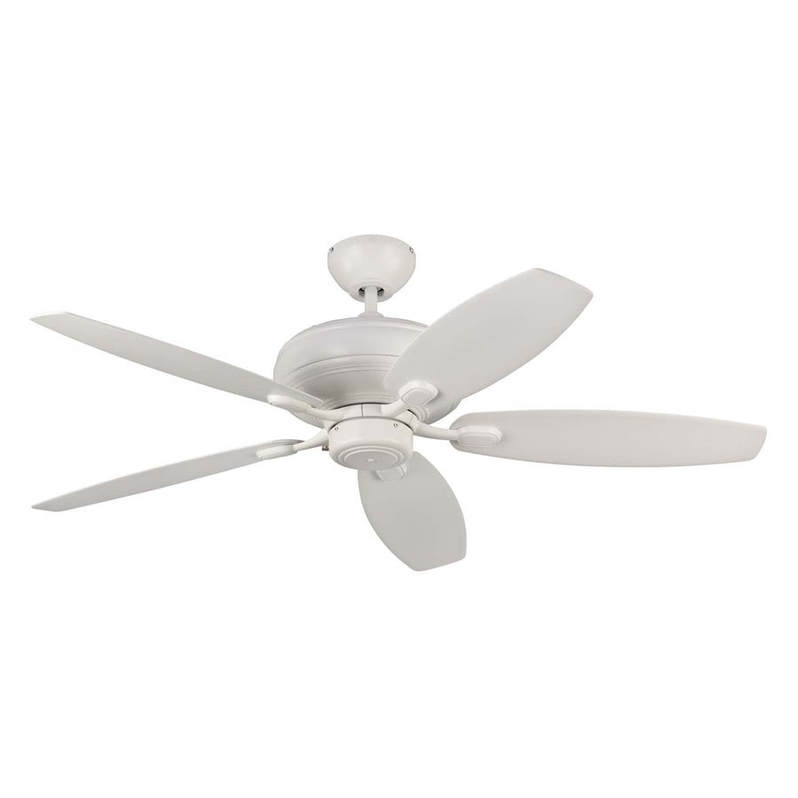 Monte Carlo Fan Company Centro Max 52-in Rubberized White Downrod or Close Mount Indoor Ceiling Fan (5-Blade) ENERGY STAR