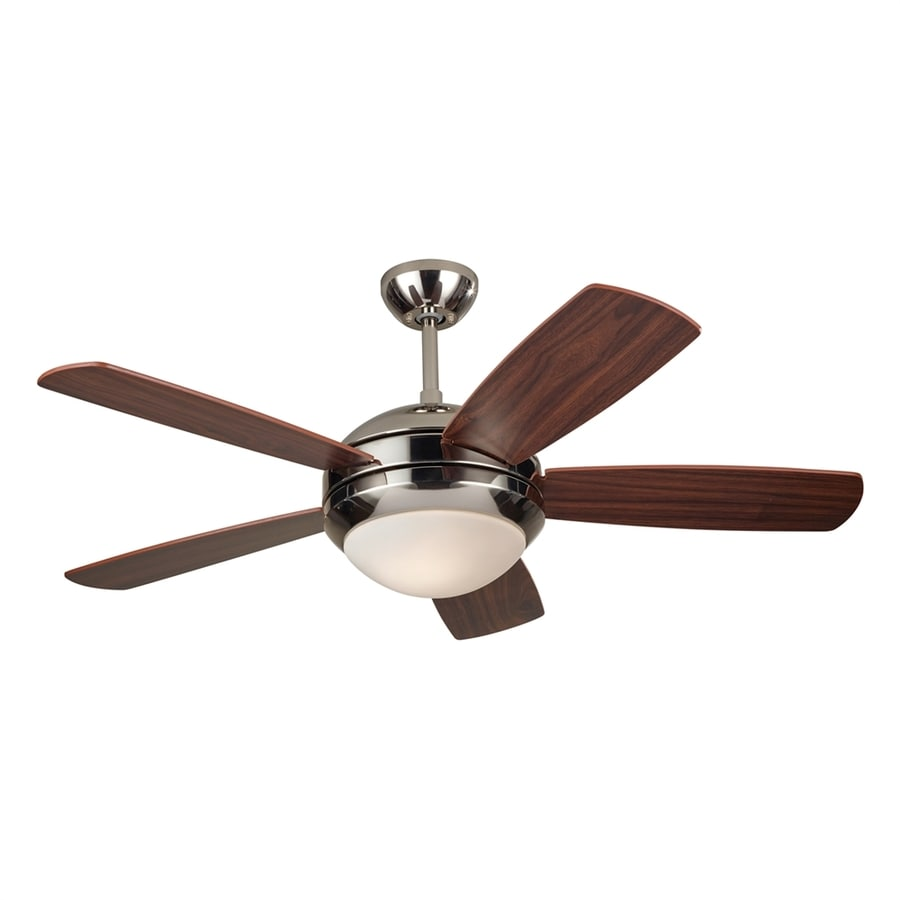Monte Carlo Fan Company Discus Ii 44-in Polished Nickel Downrod Mount Indoor Ceiling Fan (5-Blade)