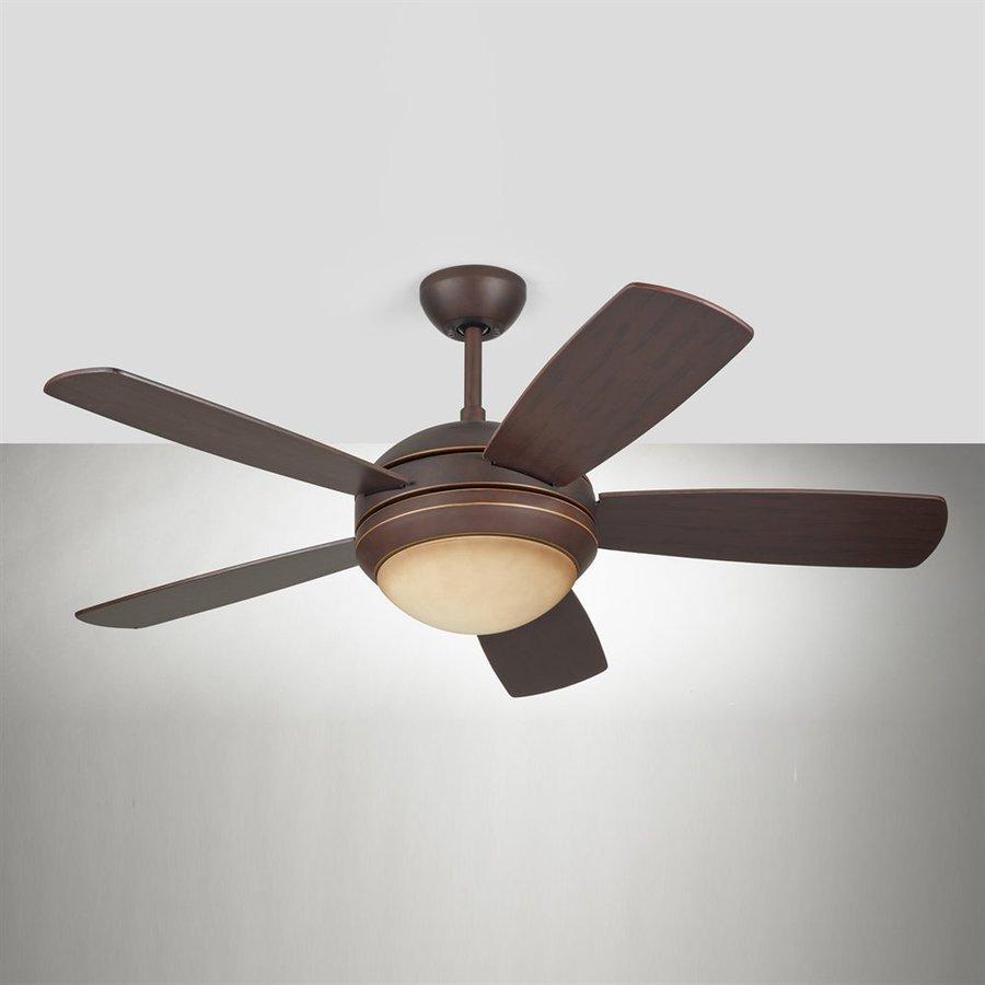 Monte Carlo Fan Company Discus Ii 44-in Roman Bronze Downrod Mount Indoor Ceiling Fan Included (5-Blade)