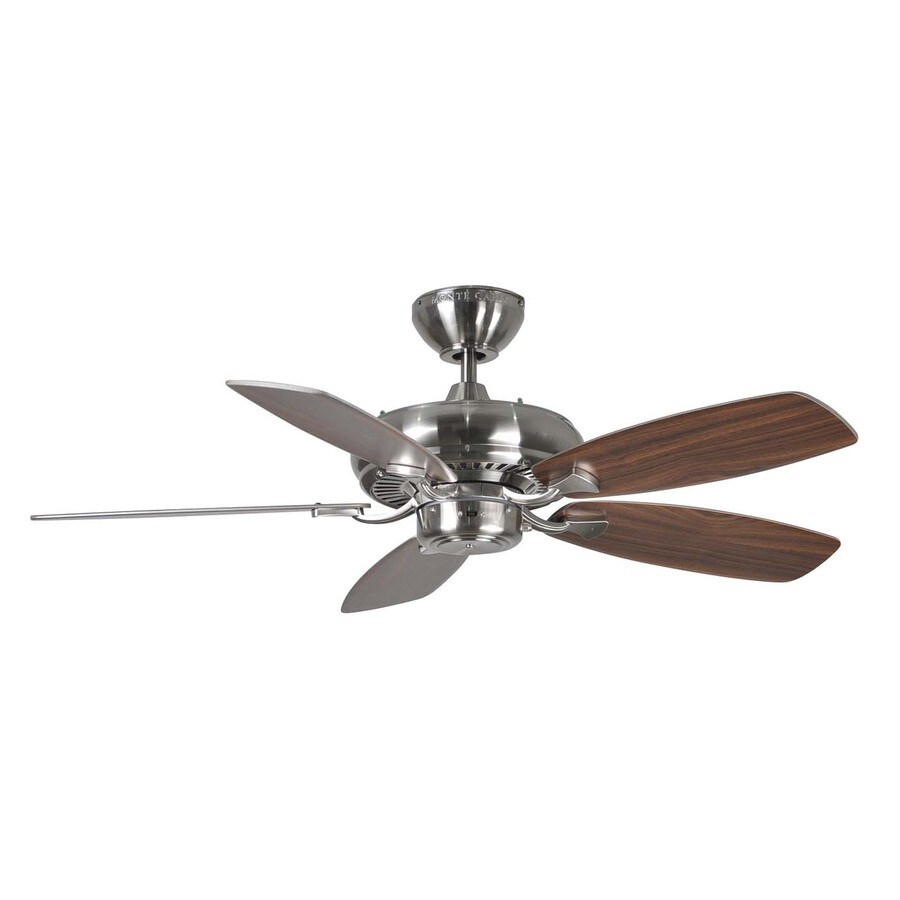 Shop Monte Carlo Fan Company Designer Max Ii 44 In Brushed