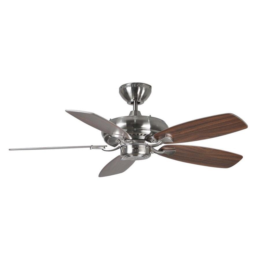 Monte Carlo Fan Company Designer Max Ii 44-in Brushed Steel Downrod Mount Indoor Ceiling Fan (5-Blade)