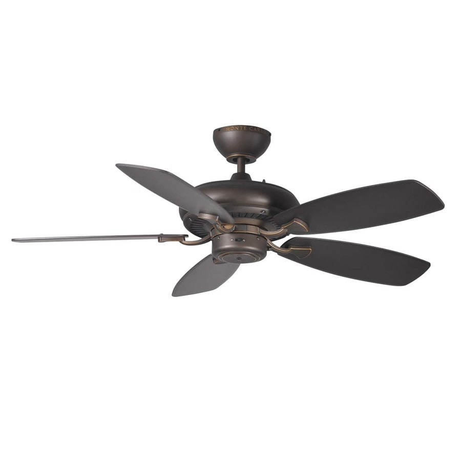 Monte Carlo Fan Company Designer Max Ii 44-in Roman Bronze Downrod Mount Indoor Ceiling Fan (5-Blade)