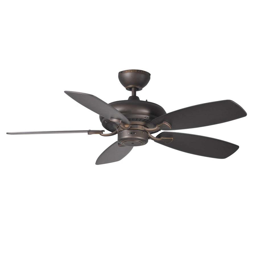 Monte Carlo Fan Company Designer Max IL 44-in Roman Bronze Downrod Mount Indoor Ceiling Fan (5-Blade)