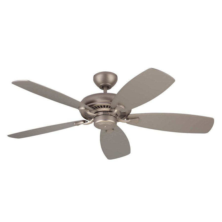 Monte Carlo Fan Company Designer Max 52-in Brushed Pewter Downrod or Close Mount Indoor Ceiling Fan (5-Blade) ENERGY STAR