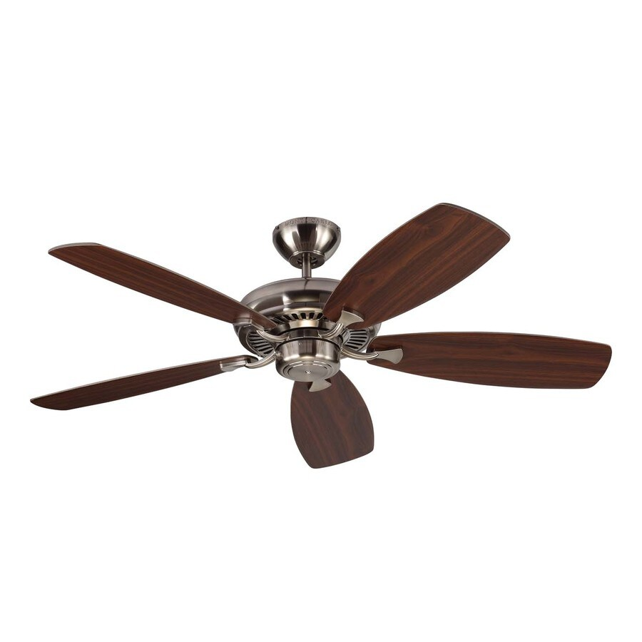 Monte Carlo Fan Company Designer Max 52-in Brushed steel Indoor Downrod Or Close Mount Ceiling Fan ENERGY STAR