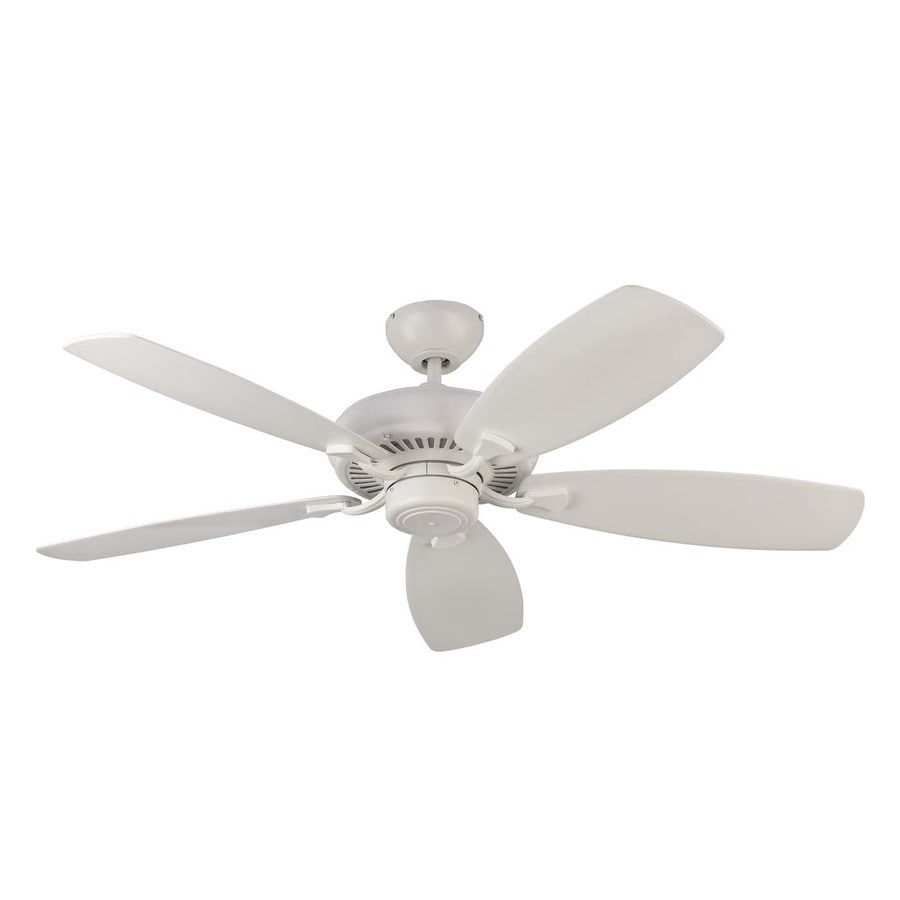 Monte Carlo Fan Company Designer Max 52-in Rubberized White Downrod or Close Mount Indoor Ceiling Fan (5-Blade) ENERGY STAR