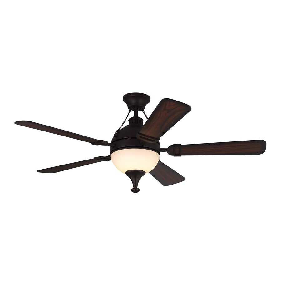 Monte Carlo Fan Company Essex 54-in Espresso Integrated Indoor Downrod Mount Ceiling Fan with Light Kit and Remote