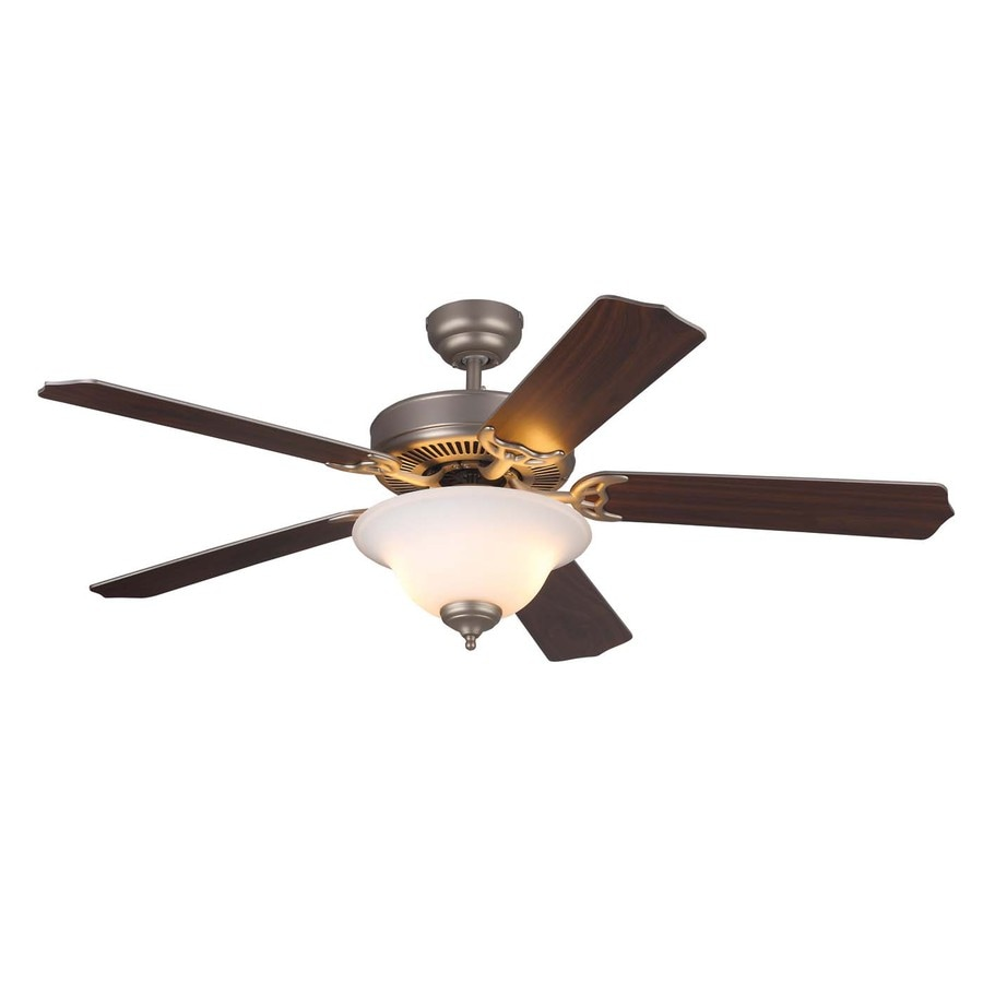 Monte Carlo Fan Company Homeowner Max 52-in Brushed pewter Indoor Downrod Or Close Mount Ceiling Fan with Light Kit ENERGY STAR