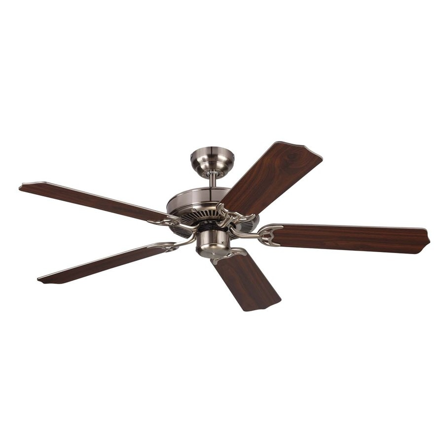 Monte Carlo Fan Company Homeowner Max 52-in Brushed Steel Downrod or Close Mount Indoor Ceiling Fan (5-Blade) ENERGY STAR