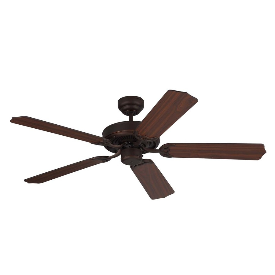 Monte Carlo Fan Company Homeowner Max 52-in Roman Bronze Downrod or Close Mount Indoor Ceiling Fan (5-Blade) ENERGY STAR
