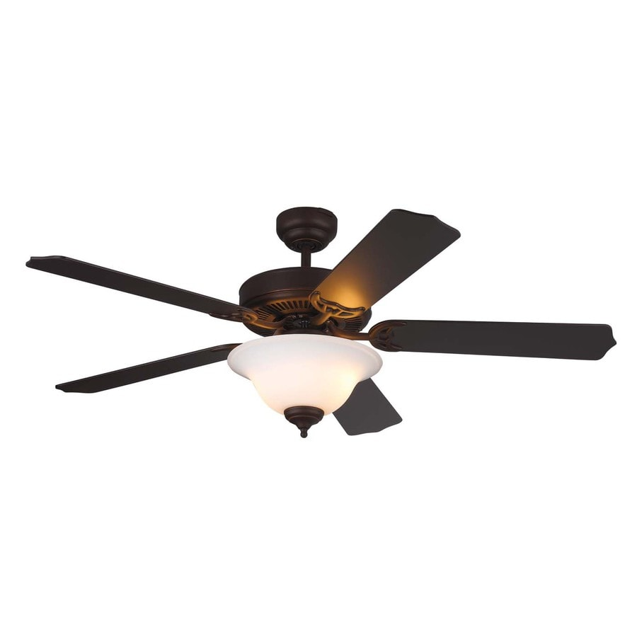 Monte Carlo Fan Company Homeowner Max 52-in Roman bronze Indoor Downrod Or Close Mount Ceiling Fan with Light Kit ENERGY STAR