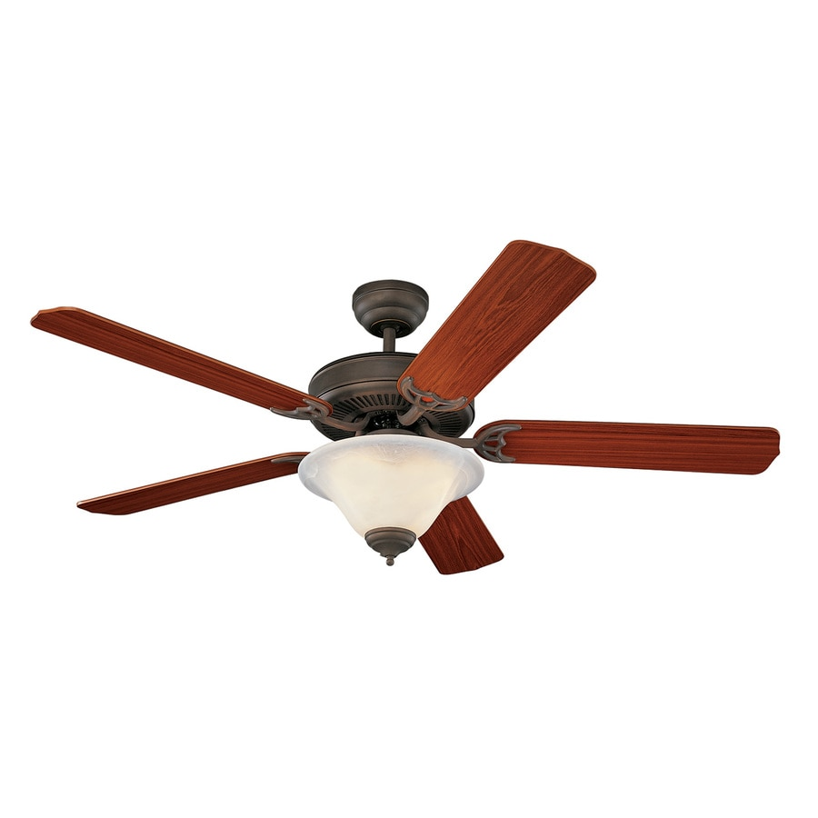 Monte Carlo Fan Company Homeowners Deluxe 52-in Roman bronze Indoor Downrod Or Close Mount Ceiling Fan with Light Kit