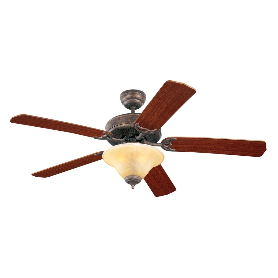 Monte Carlo Fan Company Homeowners Deluxe 52-in Tuscan bronze Indoor Downrod Or Close Mount Ceiling Fan with Light Kit
