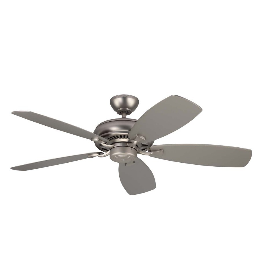 Monte Carlo Fan Company Light Cast Max 52-in Brushed Pewter Downrod or Close Mount Indoor Ceiling Fan (5-Blade)