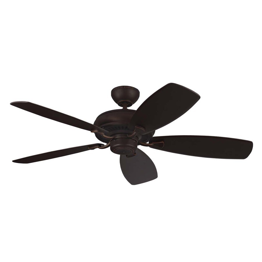 Monte Carlo Fan Company Light Cast Max 52-in Roman Bronze Downrod or Close Mount Indoor Ceiling Fan (5-Blade)