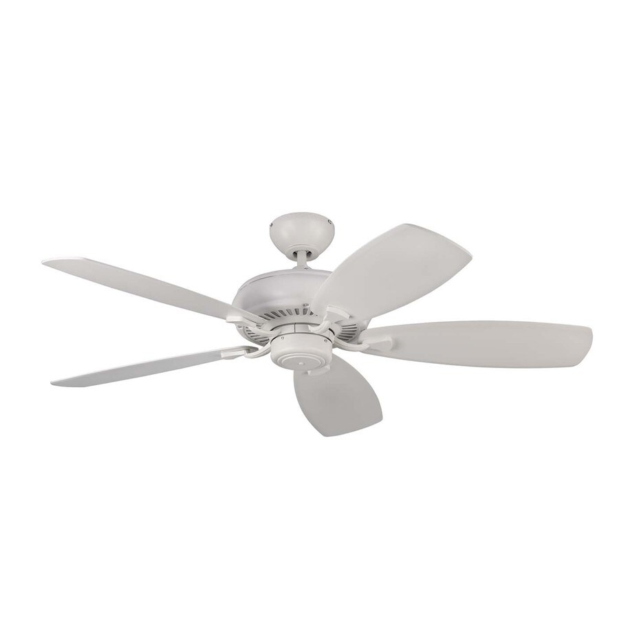 Monte Carlo Fan Company Light Cast Max 52-in Rubberized white Indoor Downrod Or Close Mount Ceiling Fan