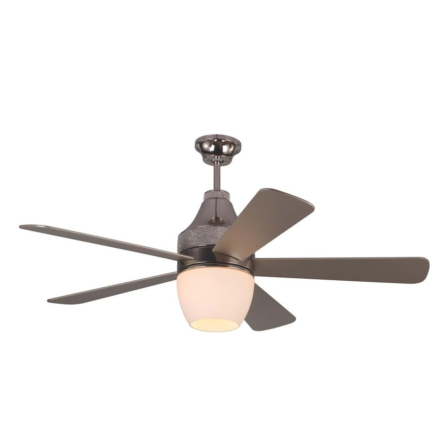 monte carlo fan company nikki 52in polished nickel integrated indoor downrod mount ceiling fan - Monte Carlo Ceiling Fans