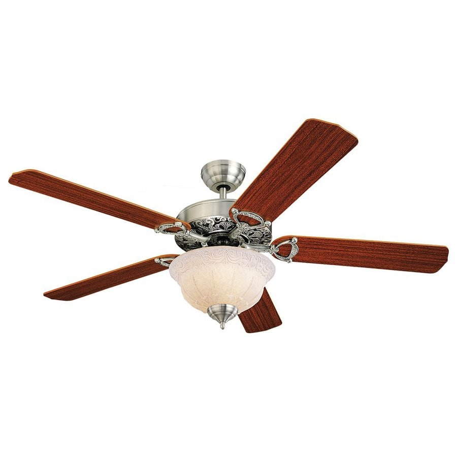Monte Carlo Fan Company Ornate Elite 52-in English Pewter Downrod or Close Mount Indoor Ceiling Fan Included (5-Blade)
