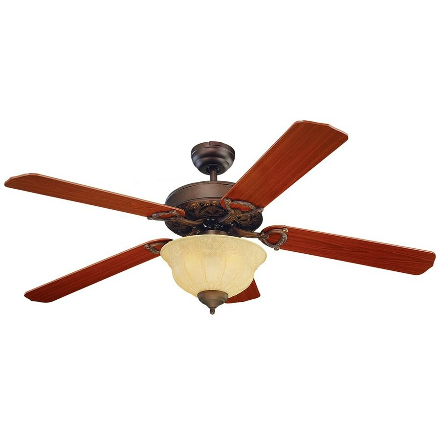 Monte Carlo Fan Company Ornate Elite 52-in Roman Bronze Downrod or Close Mount Indoor Ceiling Fan Included (5-Blade)