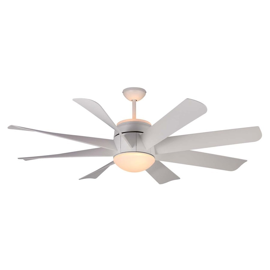 shop monte carlo fan company turbine 56 in rubberized white indoor downrod mount ceiling fan. Black Bedroom Furniture Sets. Home Design Ideas