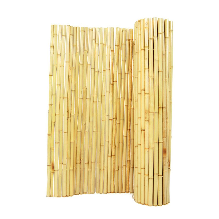 Backyard X-Scapes Natural Wood Bamboo Fencing (Common: 8-ft x 3-ft; Actual: 8-ft x 3-ft)