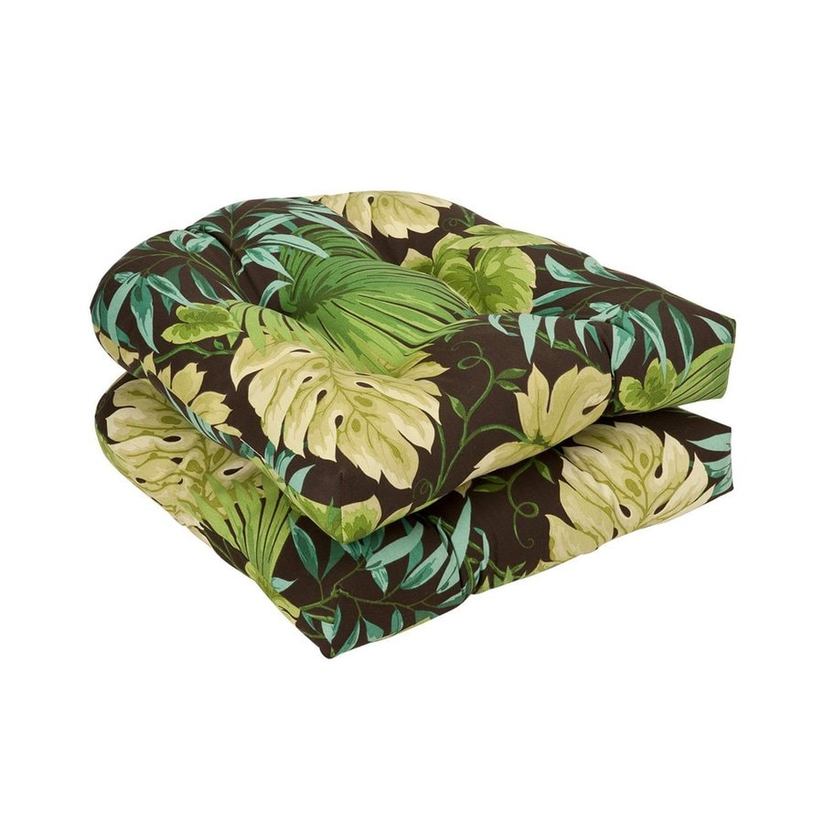 Pillow Perfect Tropical Green/Brown Universal Seat Pad