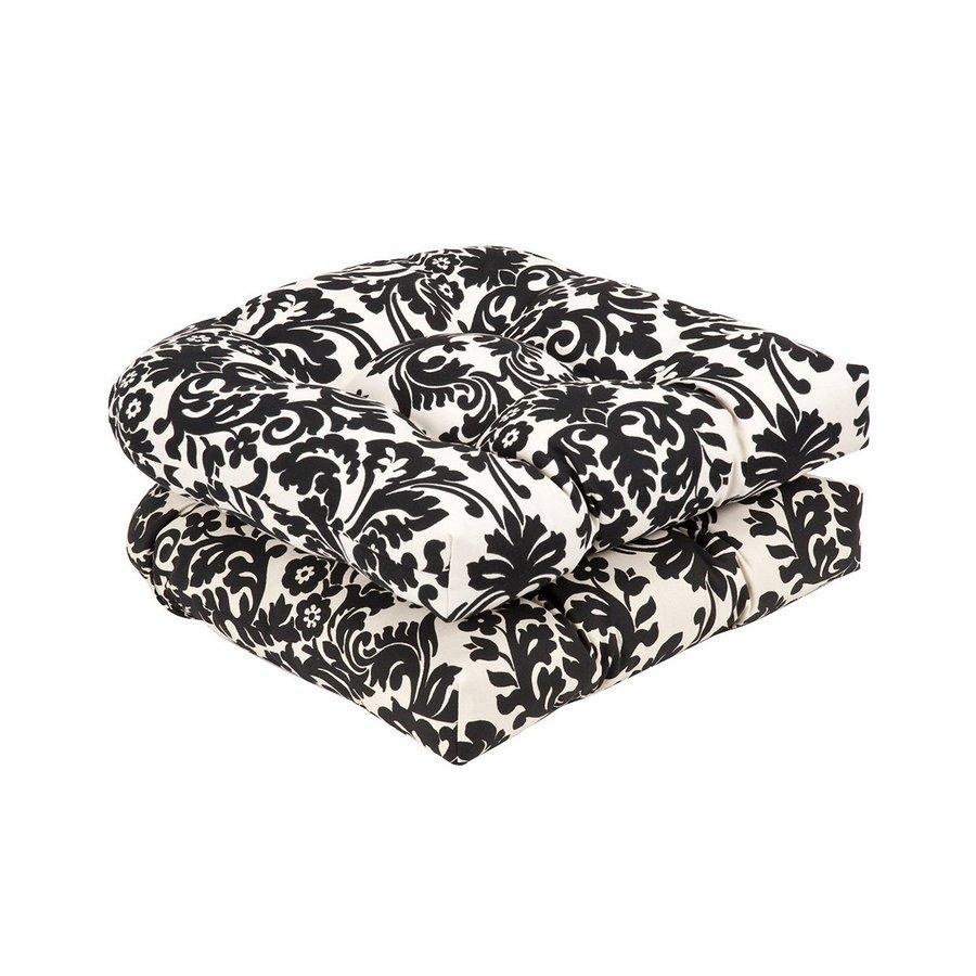 Pillow Perfect Damask Black/Beige Universal Seat Pad