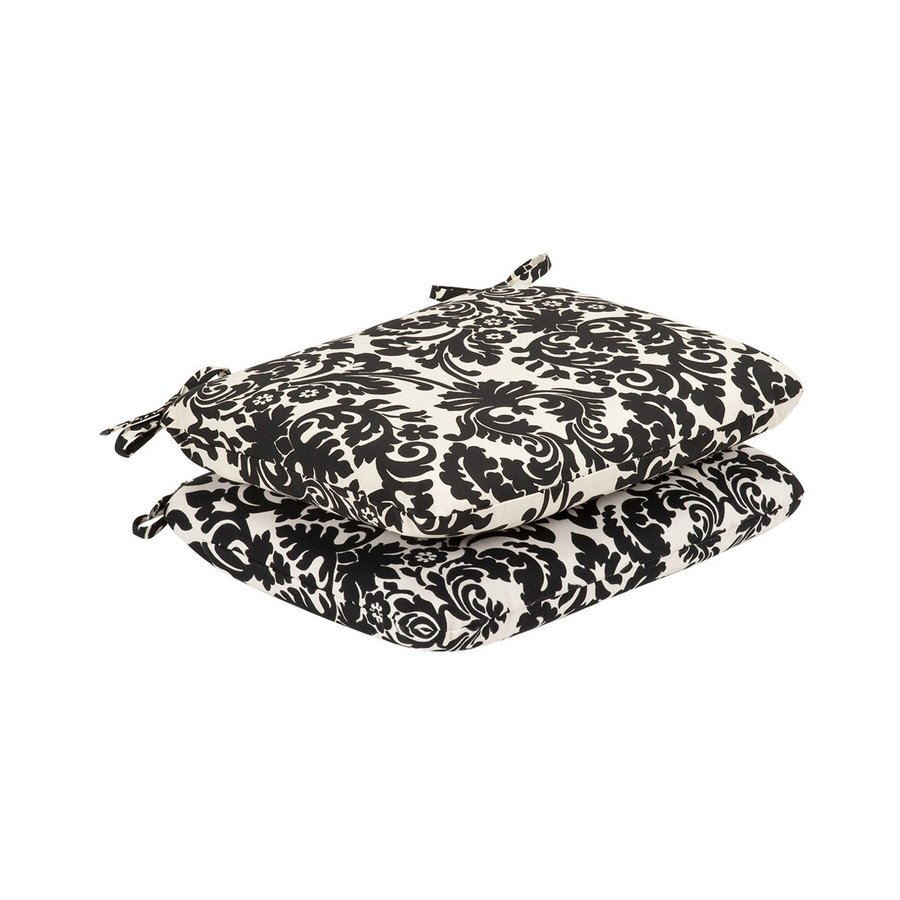 Pillow Perfect Essence Black Beige Damask Seat Pad For Universal
