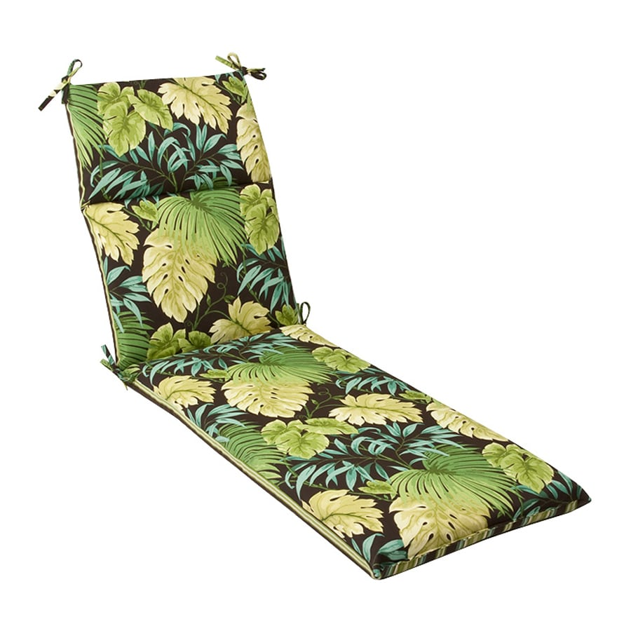 Pillow Perfect Striped Green Tropical Cushion For Chaise Lounge
