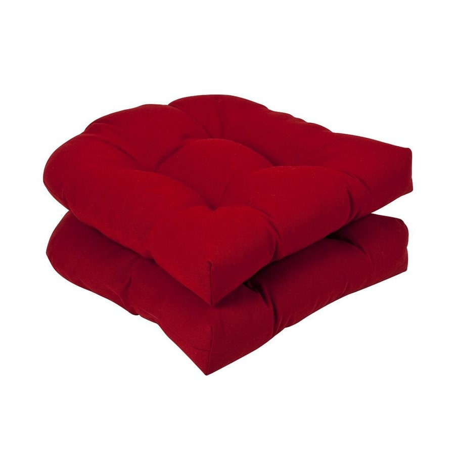Pillow Perfect Pompeii Red Solid Seat Pad For Universal