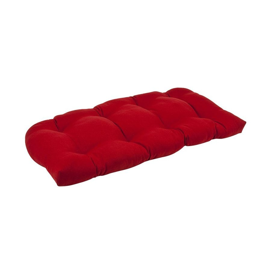 Pillow Perfect Solid Red Seat Pad for Loveseat