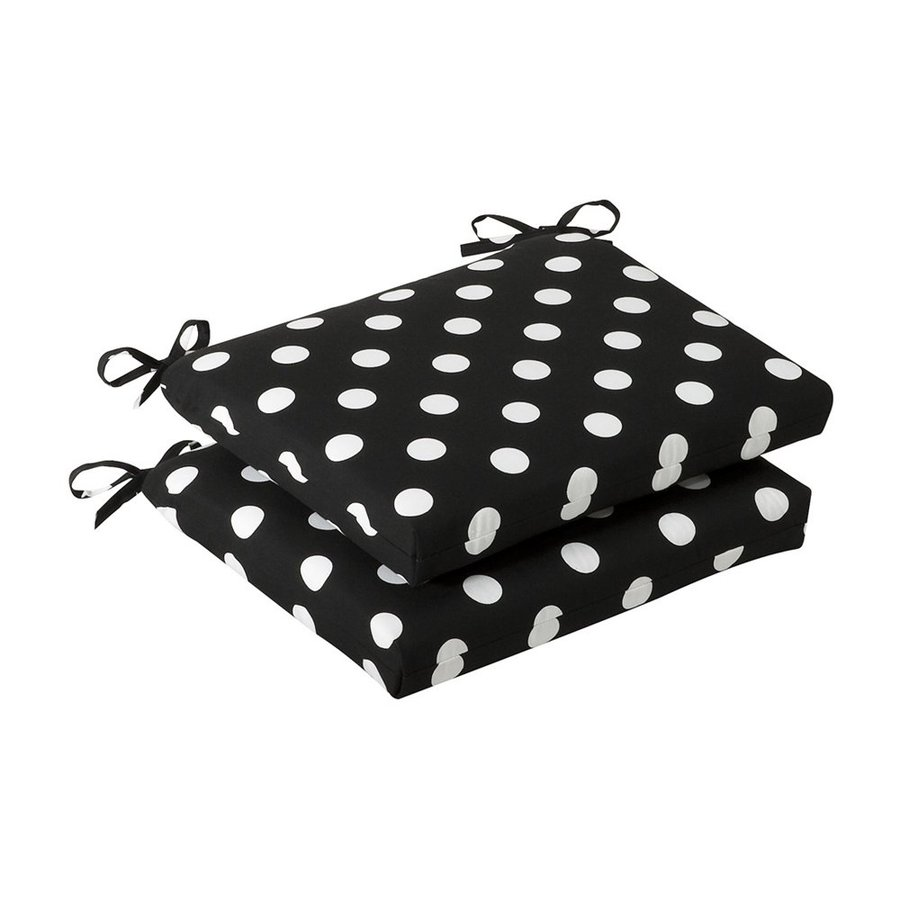 Pillow Perfect Black Polka Dot Seat Pad For Universal