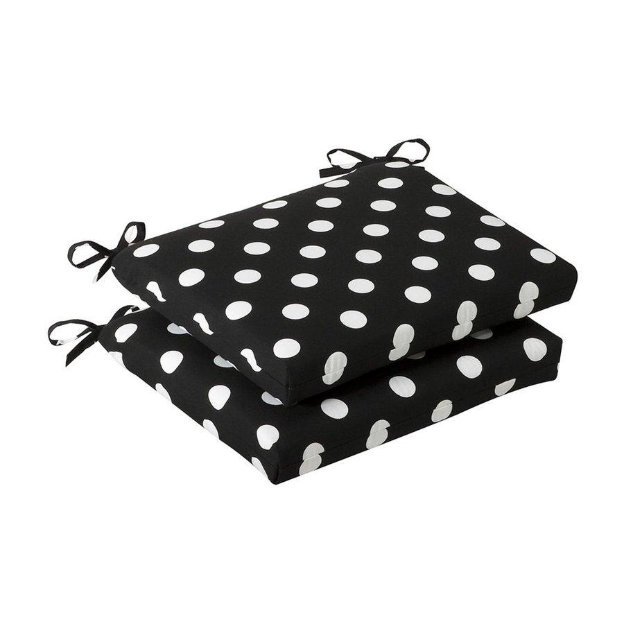 Pillow Perfect Polka Dot Black Universal Seat Pad