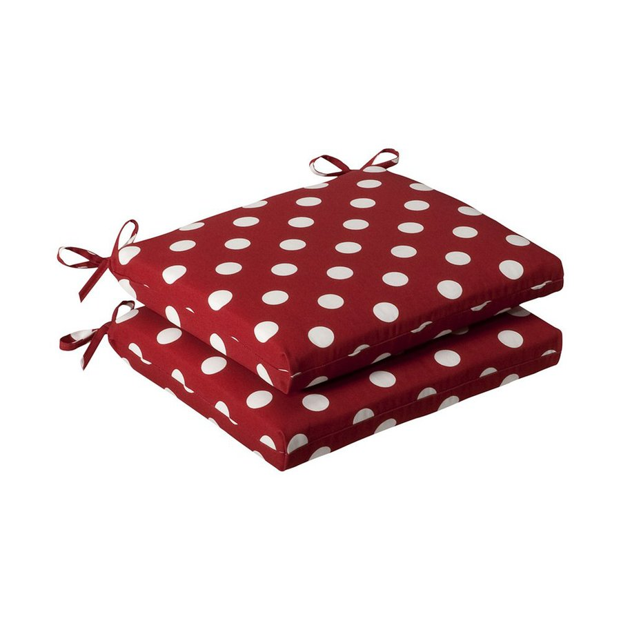 Pillow Perfect Red Polka Dot Seat Pad For Universal