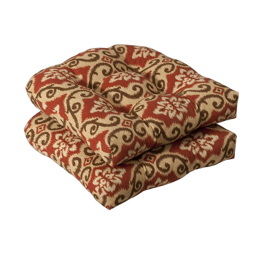Pillow Perfect Damask Red/Tan Universal Seat Pad